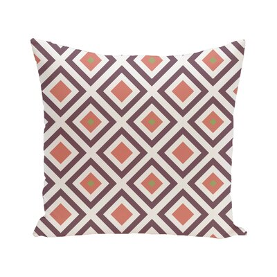 Diamond Mayhem Geometric Print Outdoor Pillow Color: Seed, Size: 16 H x 16 W x 1 D