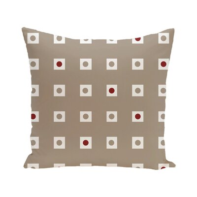 Hip To Be Square Geometric Print Outdoor Pillow Color: Flax, Size: 20 H x 20 W x 1 D