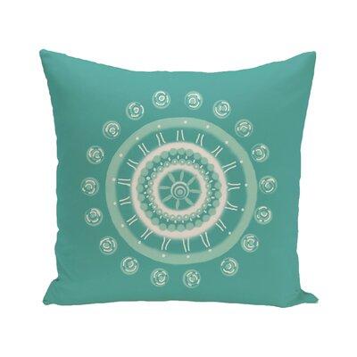 E By Design Bold Geometric Decorative Outdoor Floor Pillow - Color: Aqua
