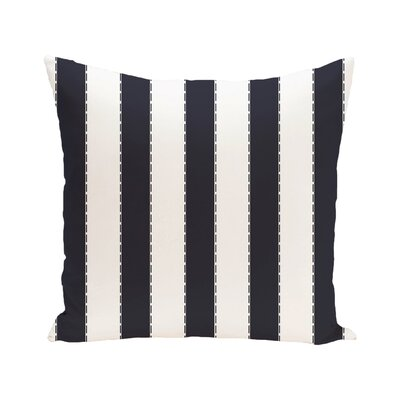 Stitch in Time Stripes Print Outdoor Pillow Color: Bewitching, Size: 18 H x 18 W x 1 D