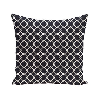 Link Lock Geometric Print Outdoor Pillow Color: Bewitching, Size: 18 H x 18 W x 1 D