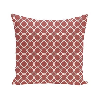 Link Lock Geometric Print Outdoor Pillow Size: 18 H x 18 W x 1 D, Color: Burnt