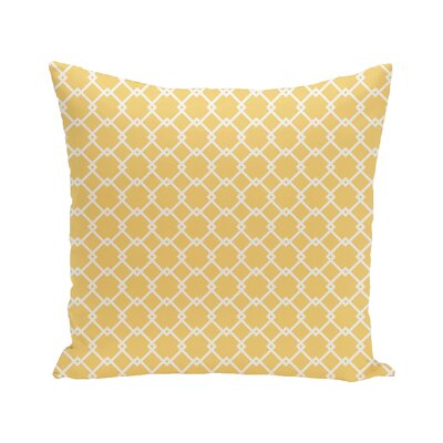 Link Lock Geometric Print Outdoor Pillow Color: Lemon, Size: 16 H x 16 W x 1 D