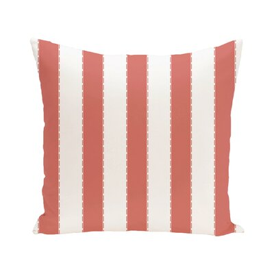Stitch in Time Stripes Print Outdoor Pillow Color: Seed, Size: 20 H x 20 W x 1 D