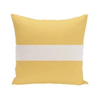 Narrow the Gap Stripe Print Outdoor Throw Pillow Size: 20 H x 20 W x 1 D, Color: Soft Lemon