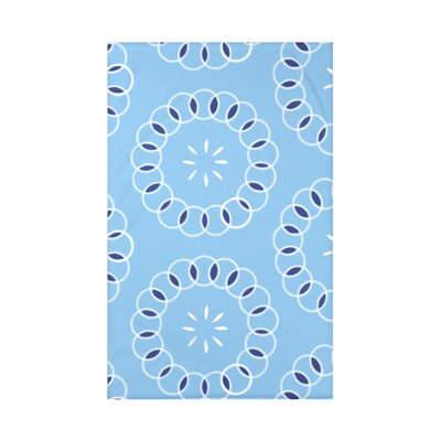 Happiness Is� Floral Print Polyester Fleece Throw Blanket Size: 60 L x 50 W x 0.5 D, Color: Sky