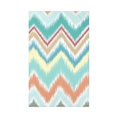 Ikat-arina Stripe Print Polyester Fleece Throw Blanket Size: 60 L x 50 W x 0.5 D, Color: Seed