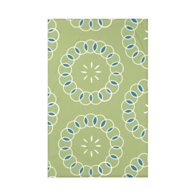 Happiness Is� Floral Print Polyester Fleece Throw Blanket Size: 60 L x 50 W x 0.5 D, Color: Avocado
