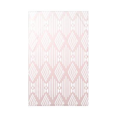 Fishbones Fleece Throw Blanket Size: 60 L x 50 W x 0.5 D, Color: Blush