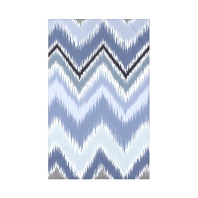 Ikat-arina Stripe Print Polyester Fleece Throw Blanket Size: 60 L x 50 W x 0.5 D, Color: Seaside