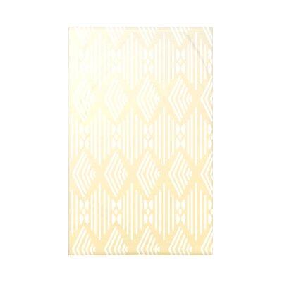 Fishbones Fleece Throw Blanket Size: 60 L x 50 W x 0.5 D, Color: Soft Lemon
