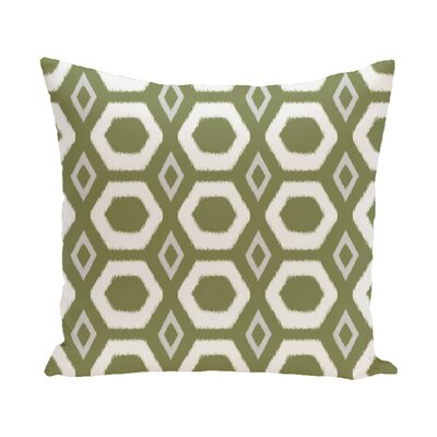 Berna Geometric Print Outdoor Pillow Color: Olive, Size: 16 H x 16 W x 1 D
