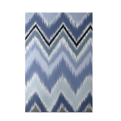 Ikat-arina Stripe Print Cadet Indoor/Outdoor Area Rug Rug Size: Rectangle 3 x 5