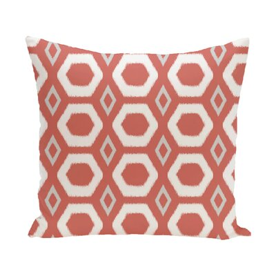 Berna Geometric Print Outdoor Pillow Color: Seed, Size: 20 H x 20 W x 1 D