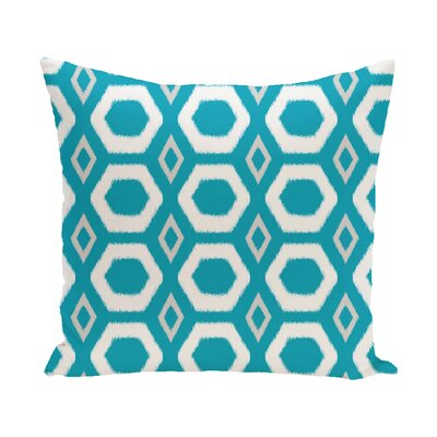 Berna Geometric Print Outdoor Pillow Color: Caribbean, Size: 18 H x 18 W x 1 D