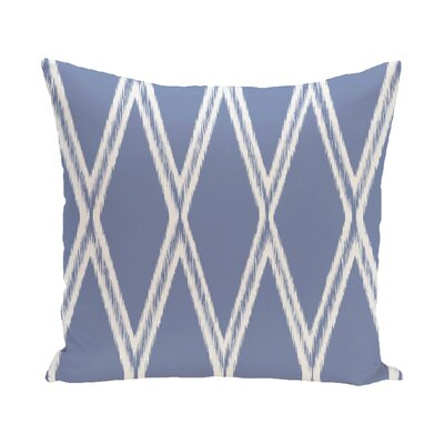 Hansell Geometric Print Outdoor Pillow Color: Cornflower, Size: 16 H x 16 W x 1 D