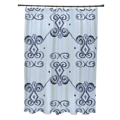 On the Line Geometric Print Shower Curtain Color: Washed Out