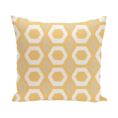 Berna Geometric Print Outdoor Pillow Color: Lemon, Size: 18 H x 18 W x 1 D