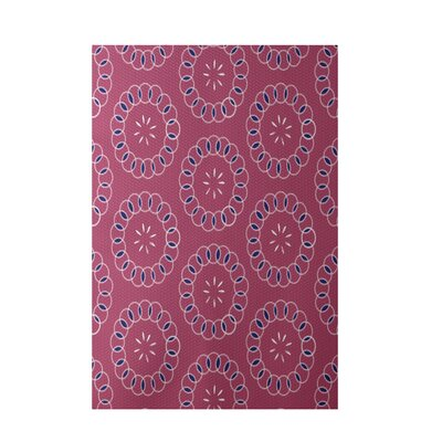 Elisha Is�..Floral Print Magenta Indoor/Outdoor Area Rug Rug Size: 2 x 3