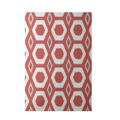 More Hugs and Kisses Geometric Print Orange Indoor/Outdoor Area Rug Rug Size: 2 x 3