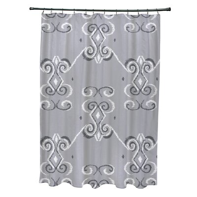 On the Line Geometric Print Shower Curtain Color: Rain Cloud