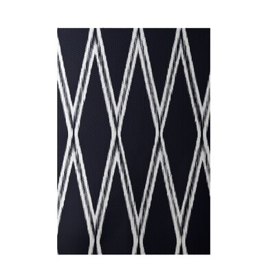 Gate Keeper Geometric Print Navy Indoor/Outdoor Area Rug Rug Size: 5 x 7