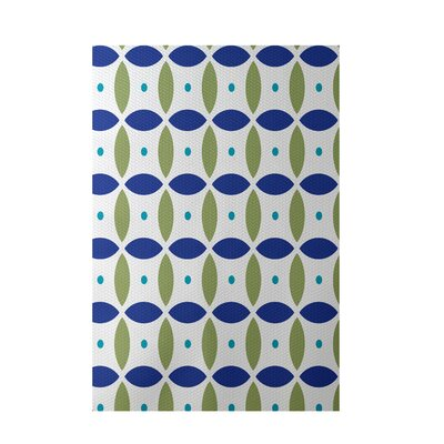Beach Ball Geometric Print Dazzling Blue Indoor/Outdoor Area Rug Rug Size: 5 x 7