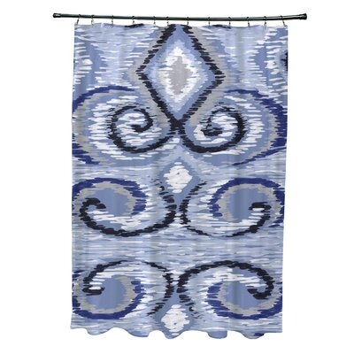 Ikats Meow Geometric Print Shower Curtain Color: Dust