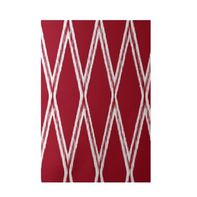 Gate Keeper Geometric Print Red Indoor/Outdoor Area Rug Rug Size: 5 x 7