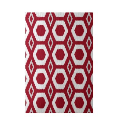 More Hugs and Kisses Geometric Print Red Indoor/Outdoor Area Rug Rug Size: 2 x 3
