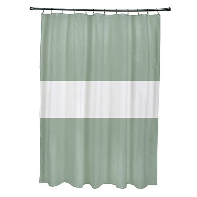 Narrow the Gap Stripe Print Shower Curtain Color: Pale Celery