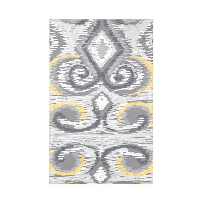 Ikat Fleece Throw Blanket Size: 60 L x 50 W x 0.5 D, Color: Paloma