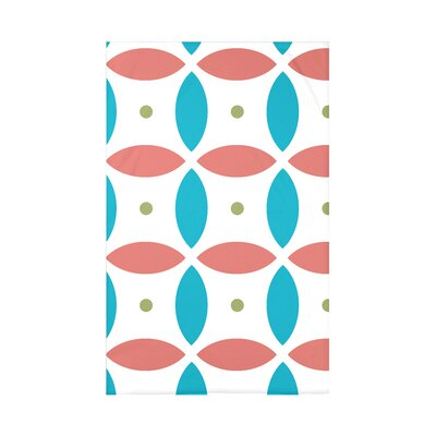Beach Ball Geometric Print Polyester Fleece Throw Blanket Size: 60 L x 50 W x 0.5 D, Color: Seed