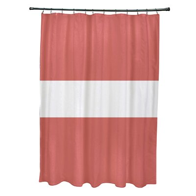 Narrow the Gap Stripe Print Shower Curtain Color: Seed