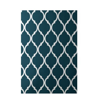 French Quarter Geometric Print Deep Sea Indoor/Outdoor Area Rug Rug Size: 5' x 7'