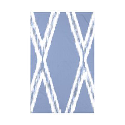 Gate Keeper Geometric Print Polyester Fleece Throw Blanket Size: 60 L x 50 W x 0.5 D, Color: Cornflower