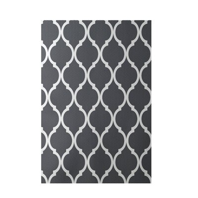 French Quarter Geometric Print Steel Indoor/Outdoor Area Rug Rug Size: 5 x 7