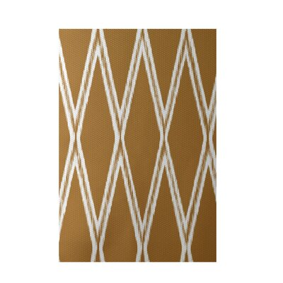 Gate Keeper Geometric Print Amber Indoor/Outdoor Area Rug Rug Size: 5 x 7