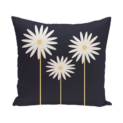 Daisy May Floral Print Outdoor Throw Pillow Color: Bewitching, Size: 16 H x 16 W x 1 D
