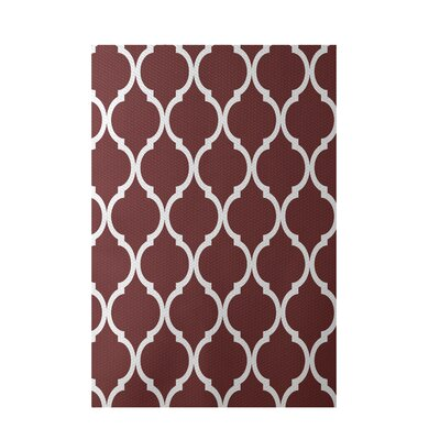 French Quarter Geometric Print Mahogany Indoor/Outdoor Area Rug Rug Size: 5' x 7'