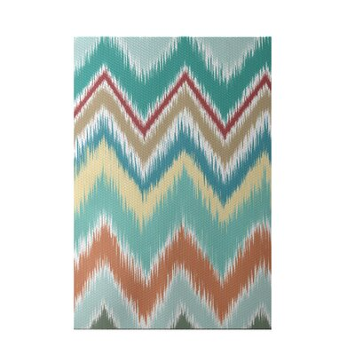 Ikat-arina Stripe Print Jade Indoor/Outdoor Area Rug Rug Size: Rectangle 3 x 5