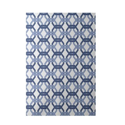 Were All Connected Geometric Print Cadet Indoor/Outdoor Area Rug Rug Size: Rectangle 3 x 5