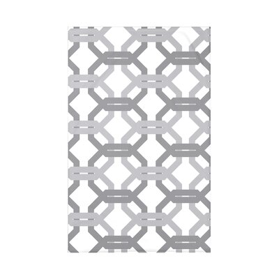 Were All Connected Geometric Print Polyester Fleece Throw Blanket Size: 60 L x 50 W x 0.5 D, Color: Classic Gray
