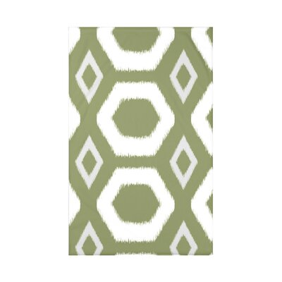Geometric Print Fleece Throw Blanket Size: 60 L x 50 W x 0.5 D, Color: Olive