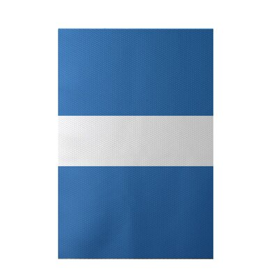 Narrow the Gap Stripe Print Azure Indoor/Outdoor Area Rug Rug Size: 5 x 7