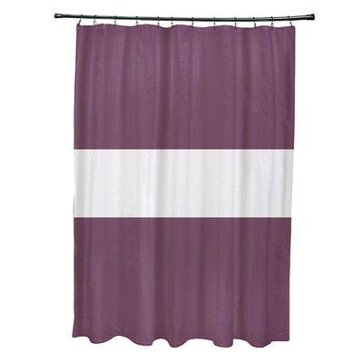 Narrow the Gap Stripe Print Shower Curtain Color: Plum
