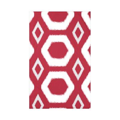Geometric Print Fleece Throw Blanket Size: 60 L x 50 W x 0.5 D, Color: Formula One