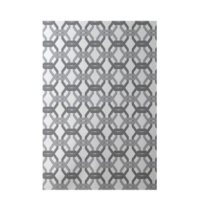 We're All Connected Geometric Print Classic Gray Indoor/Outdoor Area Rug Rug Size: 5' x 7'