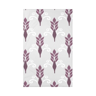 Friendship Floral Polyester Fleece Throw Blanket Size: 60 L x 50 W x 0.5 D, Color: Plum