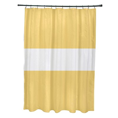 Narrow the Gap Stripe Print Shower Curtain Color: Soft Lemon